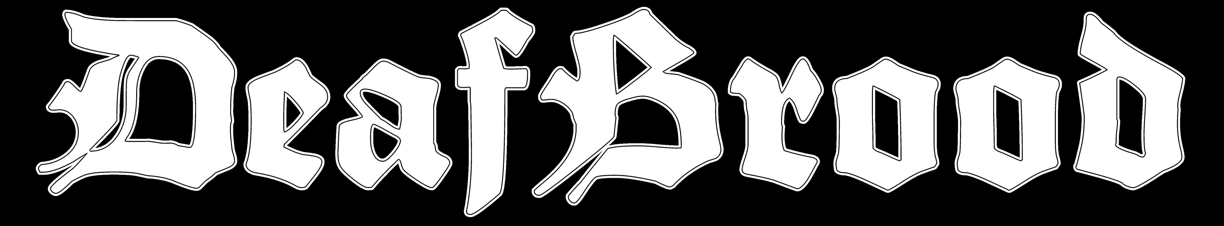 DeafBrood band logo white